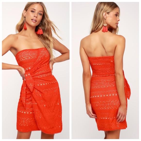 Free People Dresses & Skirts - SOLD | FREE PEOPLE 'Oceanside' Crochet Mini Dress